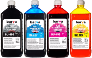 Zestaw tuszy Barva do Brother LC980 /LC985 /LC1100 - CMYK 4x1000 ml.