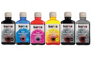 Set of inks Barva for Canon - 6x180 ml. (5 dye + 1 pigment)
