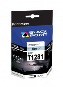 Tusz Black Point zamiennik do Epson T1281 (C13T12814010) - Czarny 10 ml.