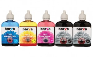 Set of inks Barva for Canon - 5x90 ml. (4 dye + 1 pigment)