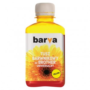 Dye ink Barva for Brother - Yellow 180 ml
