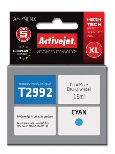 Tusz Activejet Supreme do Epson T2992 - Cyan (15 ml)