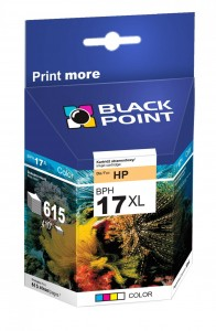 Tusz Black Point zamiennik do HP 17 (C6625A) - Kolorowy (C,M,Y) 30 ml.