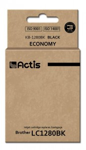 Tusz Actis zamiennik do Brother LC1280BK (KB-1280Bk) - Czarny (60 ml)