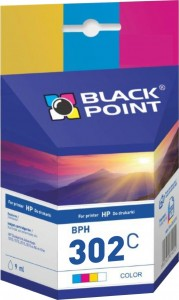 Tusz Black Point zamiennik do HP 302XL (F6U65AE) - Kolor (6,5 ml)
