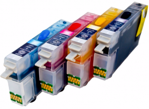 Set of Refillable Cartridges for Epson Expression Home XP-202