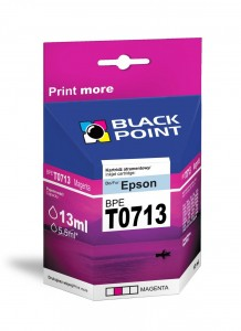 Tusz Black Point zamiennik do Epson T0713 (C13T07134010) - Purpurowy 13 ml.