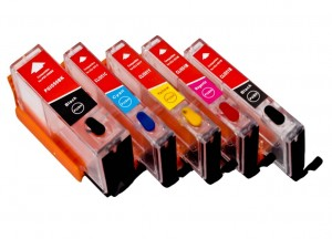 Set of Refillable Cartridges for Canon Pixma MG6450 - 5 colors