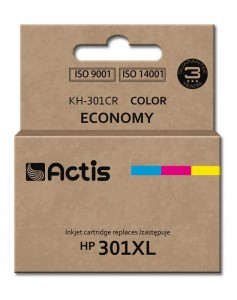 Tusz Actis zamiennik do HP 301XL (CH564EE) - Kolorowy C-M-Y 21 ml.