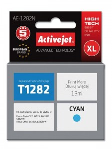 Tusz Activejet do Epson T1282 - Cyan (13 ml)