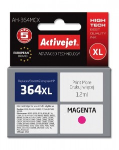 Tusz Activejet zamiennik do HP 364XL CB324EE (AH-364MCX) - Magenta (12 ml)