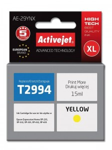 Tusz Activejet Supreme do Epson T2994 - Żółty (15 ml)