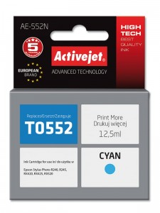 Tusz Activejet zamiennik do Epson T0552 - Cyan (12,5 ml)