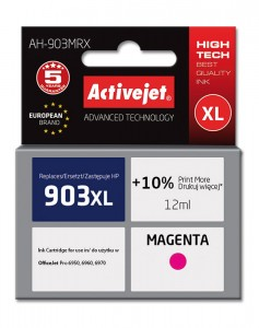 Tusz Activejet zamiennik do HP 903XL (T6M07AE) - Magenta (12 ml)
