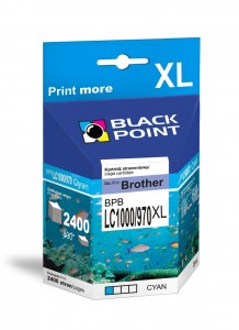 Tusz Black Point zamiennik do Brother LC1000/LC970 XLC - Cyan (26 ml)