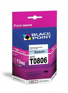 Tusz Black Point zamiennik do Epson T0806 - Light Magenta 13 ml.