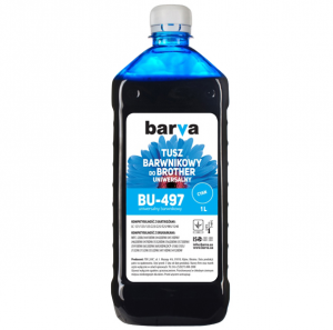 Tusz Barva do Brother BT5000 - Cyan 1000 ml.