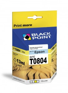 Tusz Black Point zamiennik do Epson T0804 - Żółty 13 ml.
