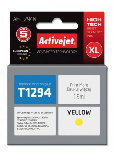 Tusz Activejet do Epson T1304 - Żółty (18 ml)