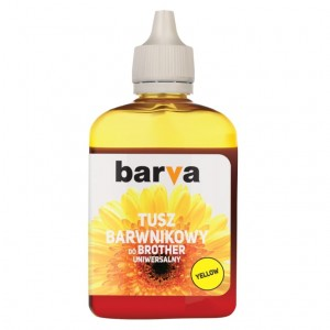 Dye ink Barva for Brother - Yellow 90 ml.