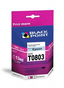 Tusz Black Point zamiennik do Epson T0803 - Purpurowy 13 ml.