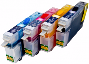 Set of Refillable Cartridges for Epson Expression Home XP-215