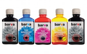 Set of inks Barva for Canon - 4x90 ml.  (1) (1) (1) (1) (1) (1) (1)