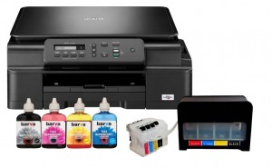 Brother DCP-J105 + System CISS + Tusze Barva 4x90 ml.