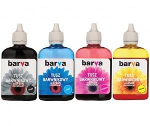 Set of dye inks Barva for Epson - 4x90 ml.