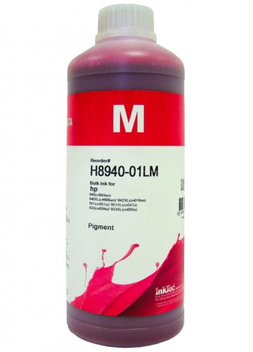 Tusz InkTec Pigment do HP (H8940-01LM) – magenta 1000 ml