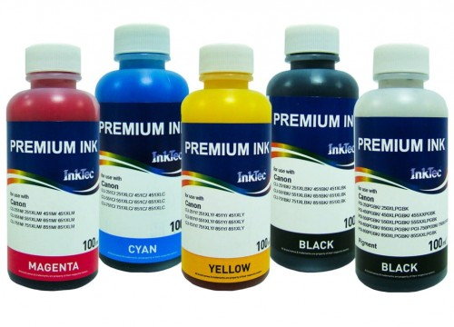 Tusz InkTec do Canon Pixma PGI-550/CLI-551 - 5x100 ml.