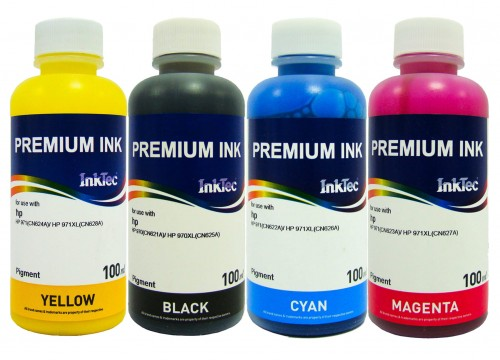 Tusze InkTec Pigment do HP 980/980XL - 4x100 ml