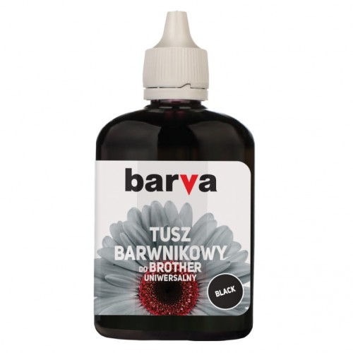 Tusz Barva czarny do Brother LC1000 90 ml. - przód